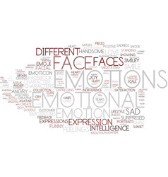 Emotions word cloud concept vector