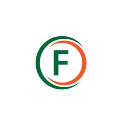 F company logo template design vector