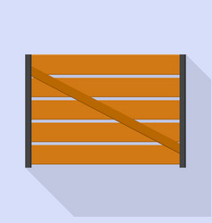 farm wood fence icon flat style vector image
