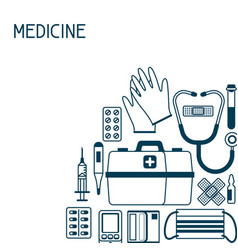 first aid kit equipment background vector image