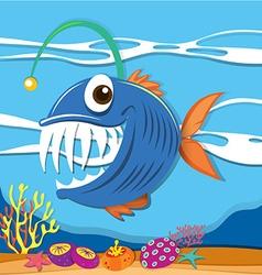 fish swimming under sea vector image