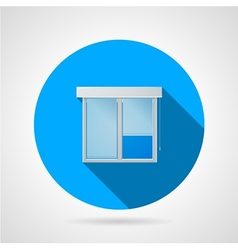 Flat icon for window vector image