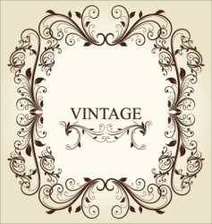 floral vintage ornament vector image vector image