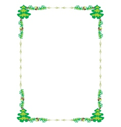 frame tree vector image