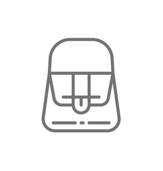 french fashion women bag line icon vector image