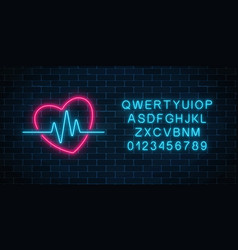 glowing neon medicine concept sign with vector image