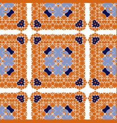 gorgeous seamless pattern azulejo vector image
