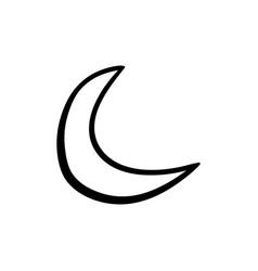 Halloween moon doodle element isolated vector