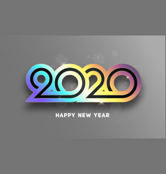 happy new year 2020 text design lettering vector image