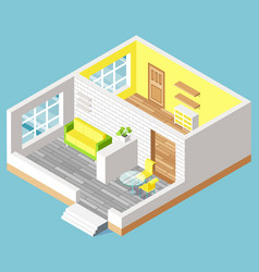 House interior furniture indoor moving vector