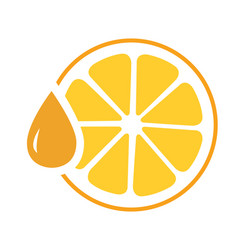 icon orange juice isolated vector image