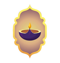 indian candle decoration vector image