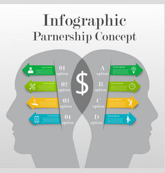 Infographic partnership concept vector