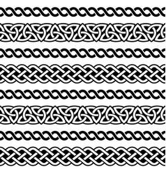 Irish celtic seamless pattern braided vector