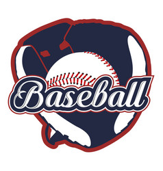 isolated baseball emblem vector image