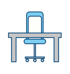 Isolated desk and chair vector