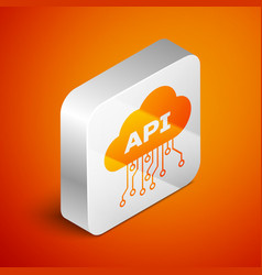 Isometric cloud api interface icon isolated on vector