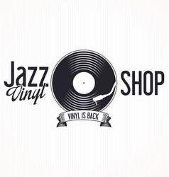 jazz vinyl record retro background 2 vector image