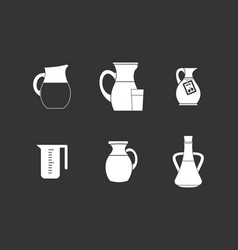 jug icon set grey vector image