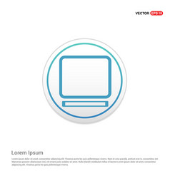 laptop icon - white circle button vector image