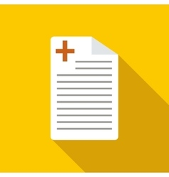 Medical history icon flat style vector