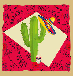 mexican culture cartoon vector image