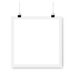 Mockup white banner isolated white background vector