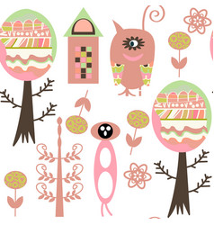monsters seamless pattern it is located in swatch vector image