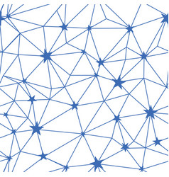 navy blue stars network seamless pattern vector image