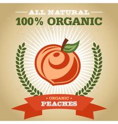 Organic Peach vector