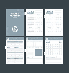 Organizer pages business planner creative vector