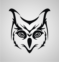 Owl Face Tribal vector image
