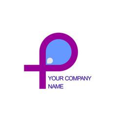 P initial water logo vector