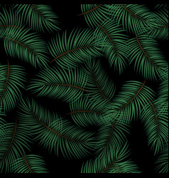 Palm leaves seamless pattern background vector