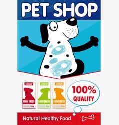 pet shop poster concept vector image