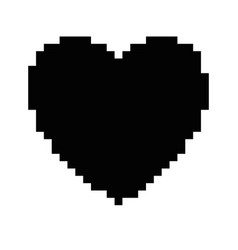 pixelated heart game icon vector image