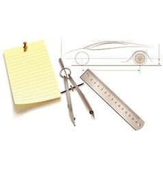 Plan drawing tools vector image