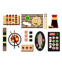 Restaurant asian cuisine flat icon vector
