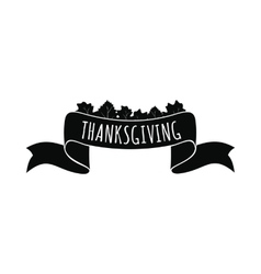 Ribbon thanksgiving icon vector