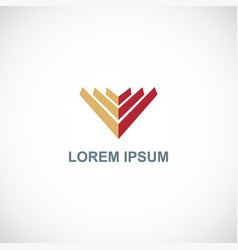 shape letter v company logo vector image