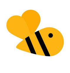 simple cute yellow bee icon vector image
