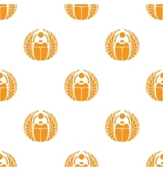 Simple orange scarab seamless pattern vector