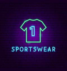 sportswear neon label vector image