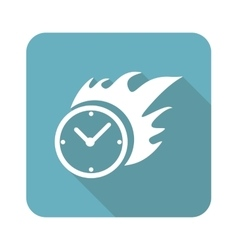 Square burning time icon vector image