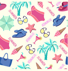 summer vacation in beach style background vector image