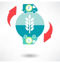 Time delivery icon vector image