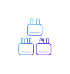 travel adapter gradient linear icon vector image