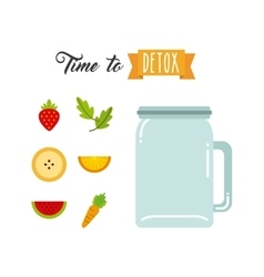 Tropical Detox icon Smoothie and Juice design vector