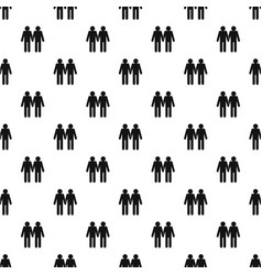 Two men gay pattern vector
