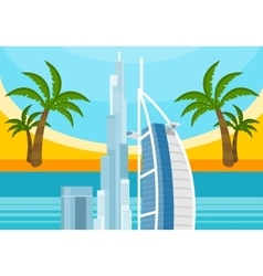 United Arab Emirates Travelling Banner Landscape vector image